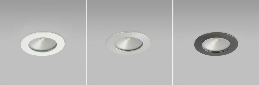 Etta under cupboard light in white, bronze and aluminium