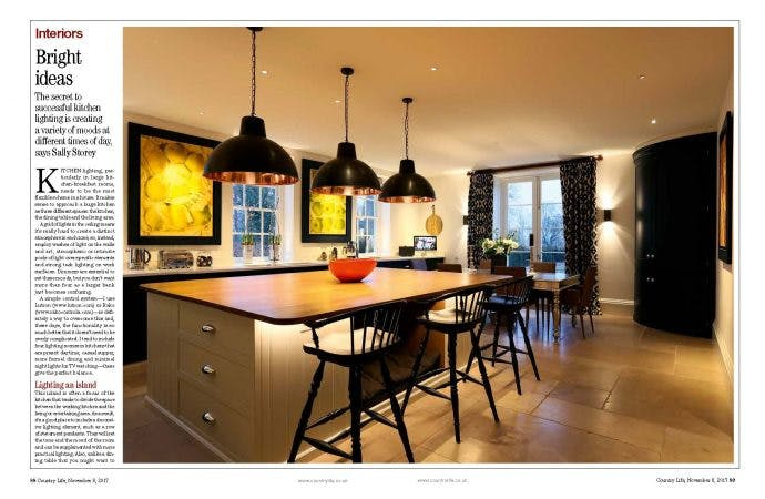 country life kitchen lighting