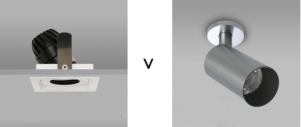 Downlights versus spotlight what is the difference