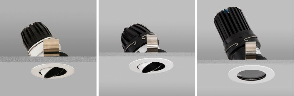 range of different sized downlights