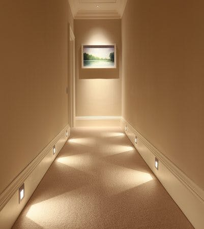 sirolo floorwasher lights up floor of long corridor
