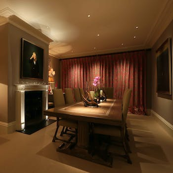 formal dining room lighting and controls