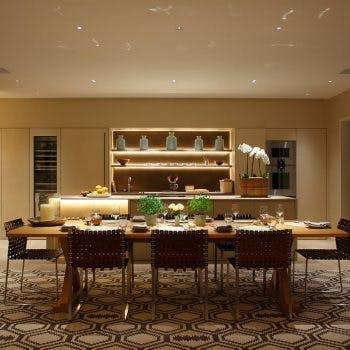 shelf lighting in dining room