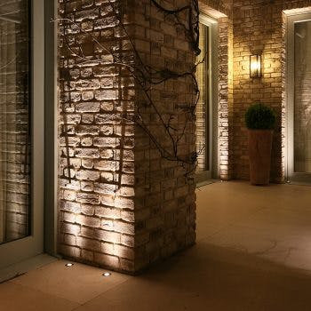 Lucca uplighting external brick work