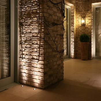 Lucca uplighting external brick work