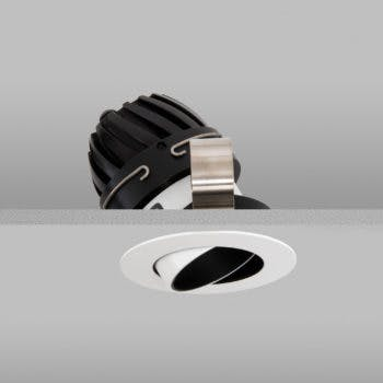 polespring led directional downlight in white