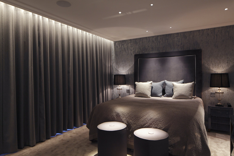 penthouse bedroom lighting design