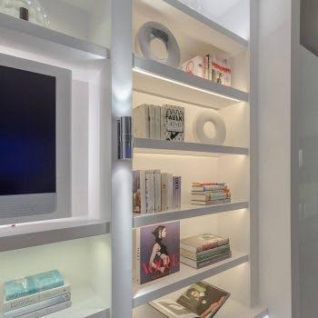 front lighting of shelves