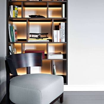 Example of back lit shelving