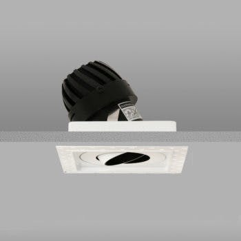 Square trimless led downlight white