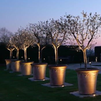 layering garden lighting