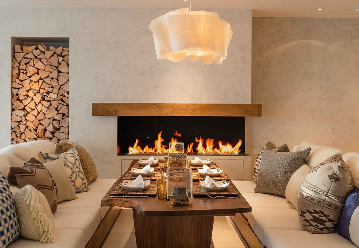 Chalet Contemporary Cosy Living Room