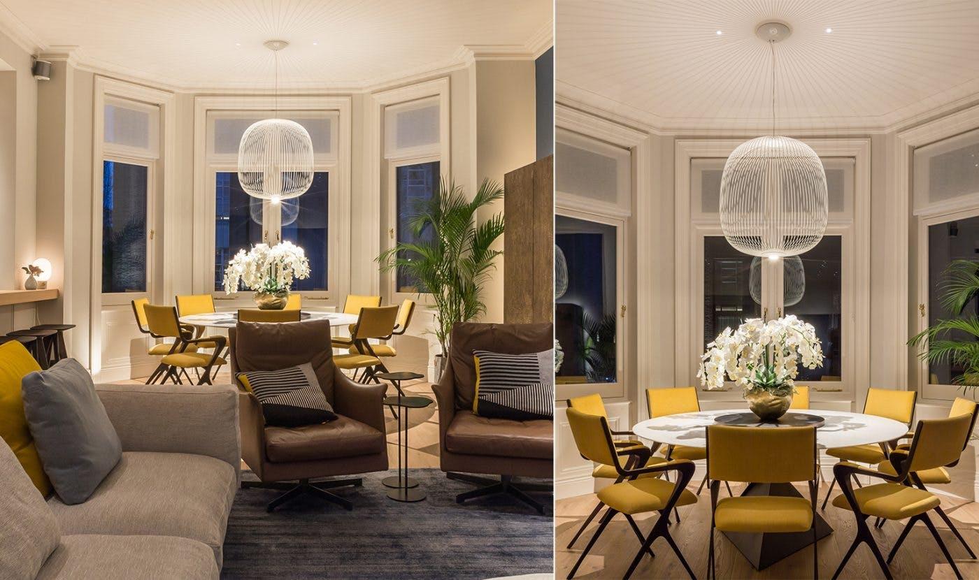 Contemporary dining room lighting design