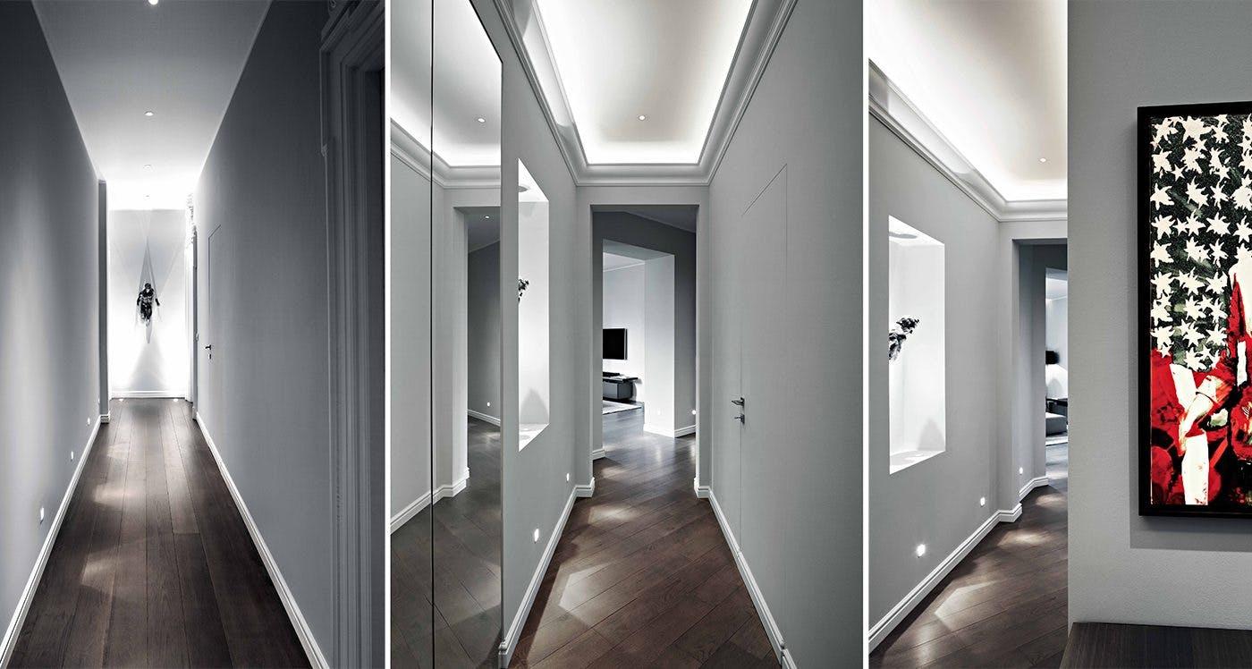 dramatic corridor lighting
