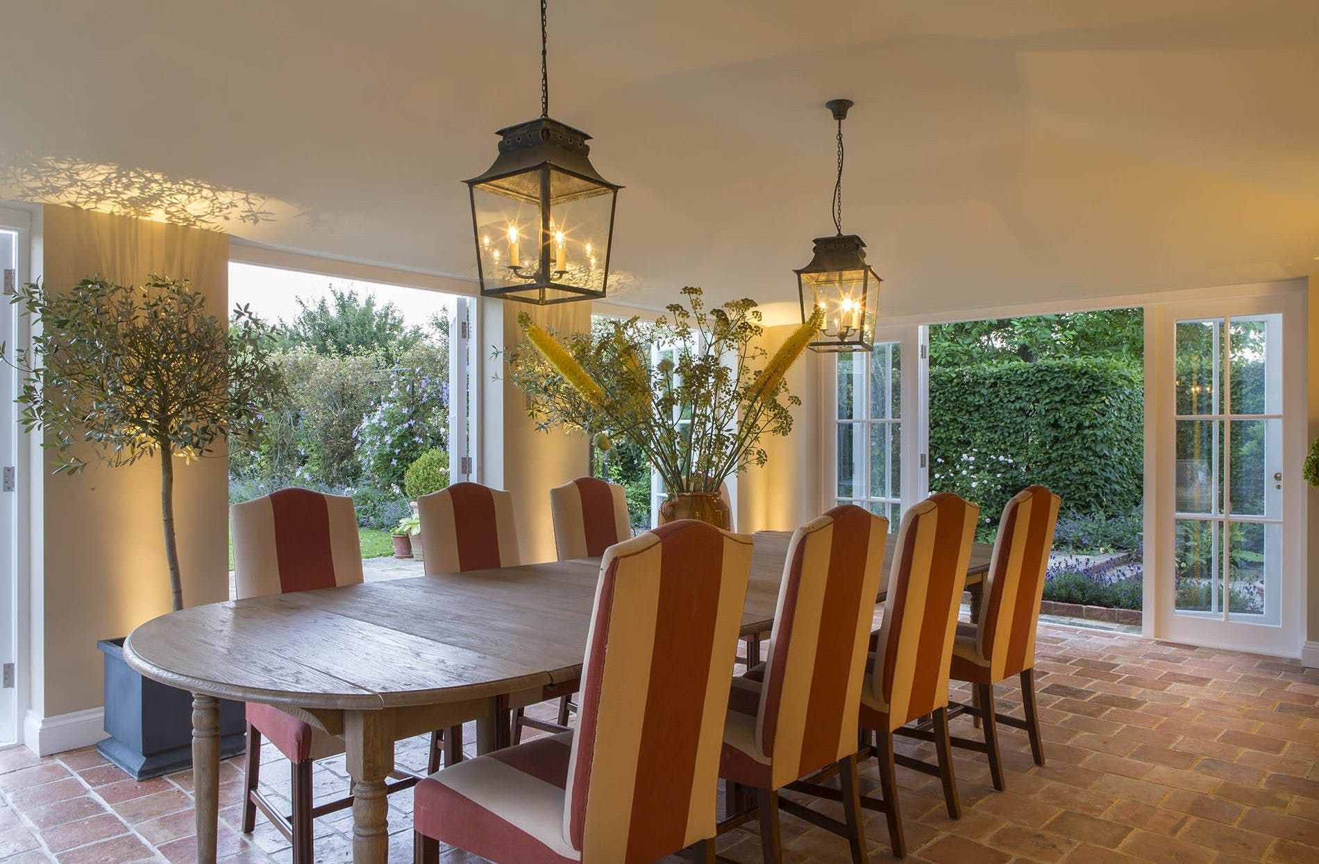 lighting for dining room in conservatory