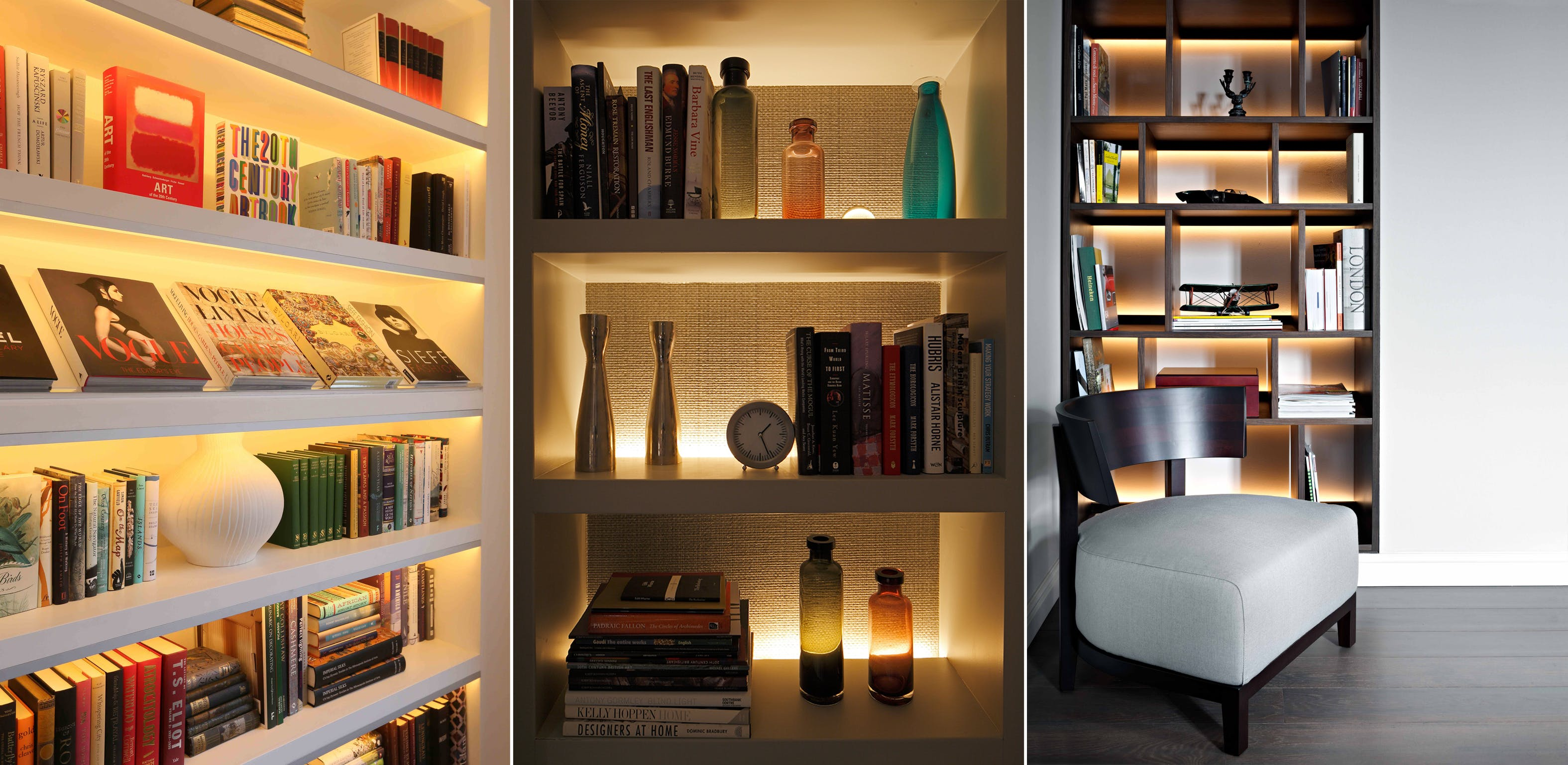Shelf lighting ideas John Cullen Lighting
