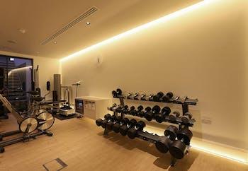 Wall washing for basement gym