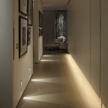 floor washing lighting down corridors