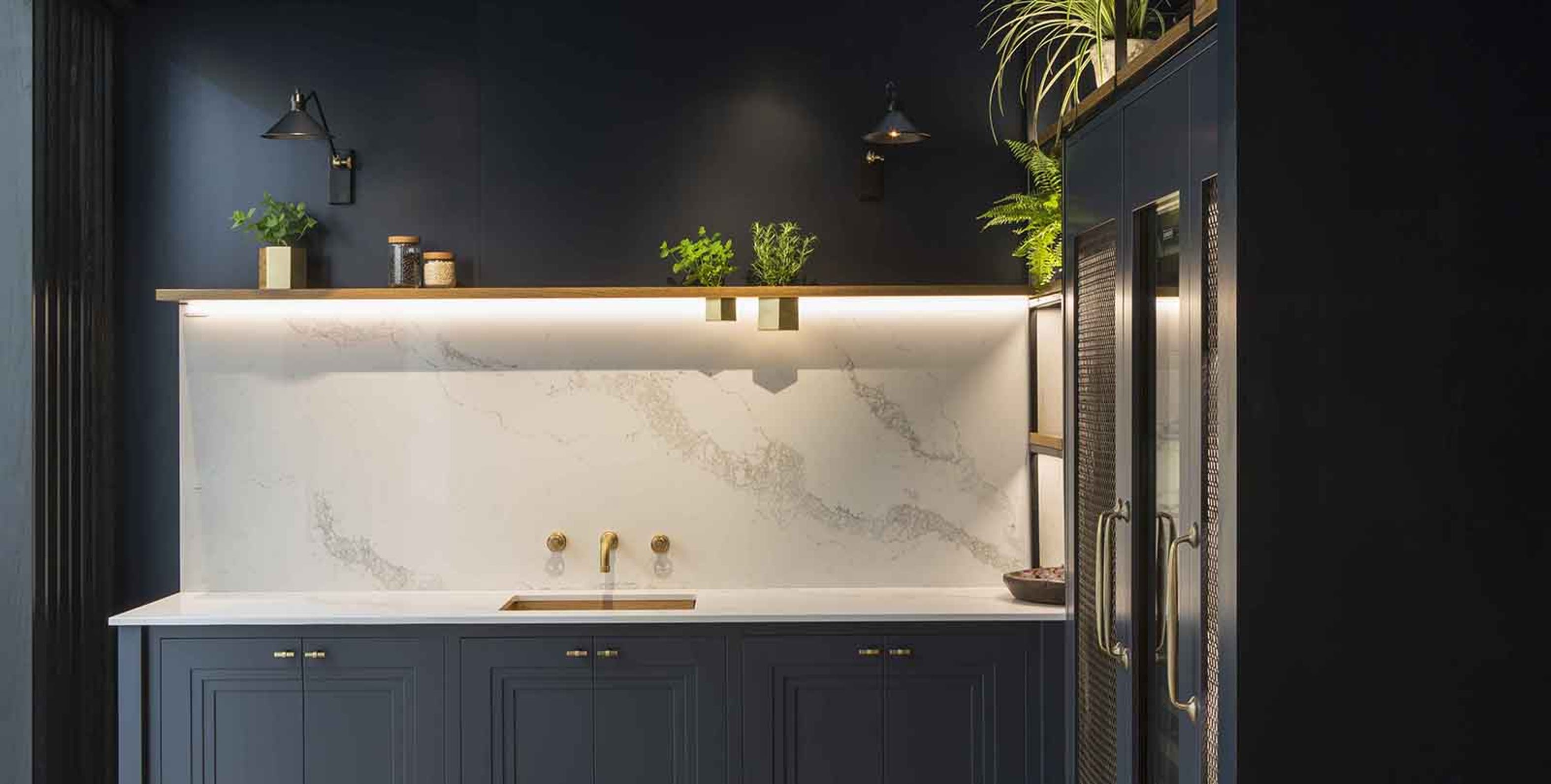 joinery and marble splashback