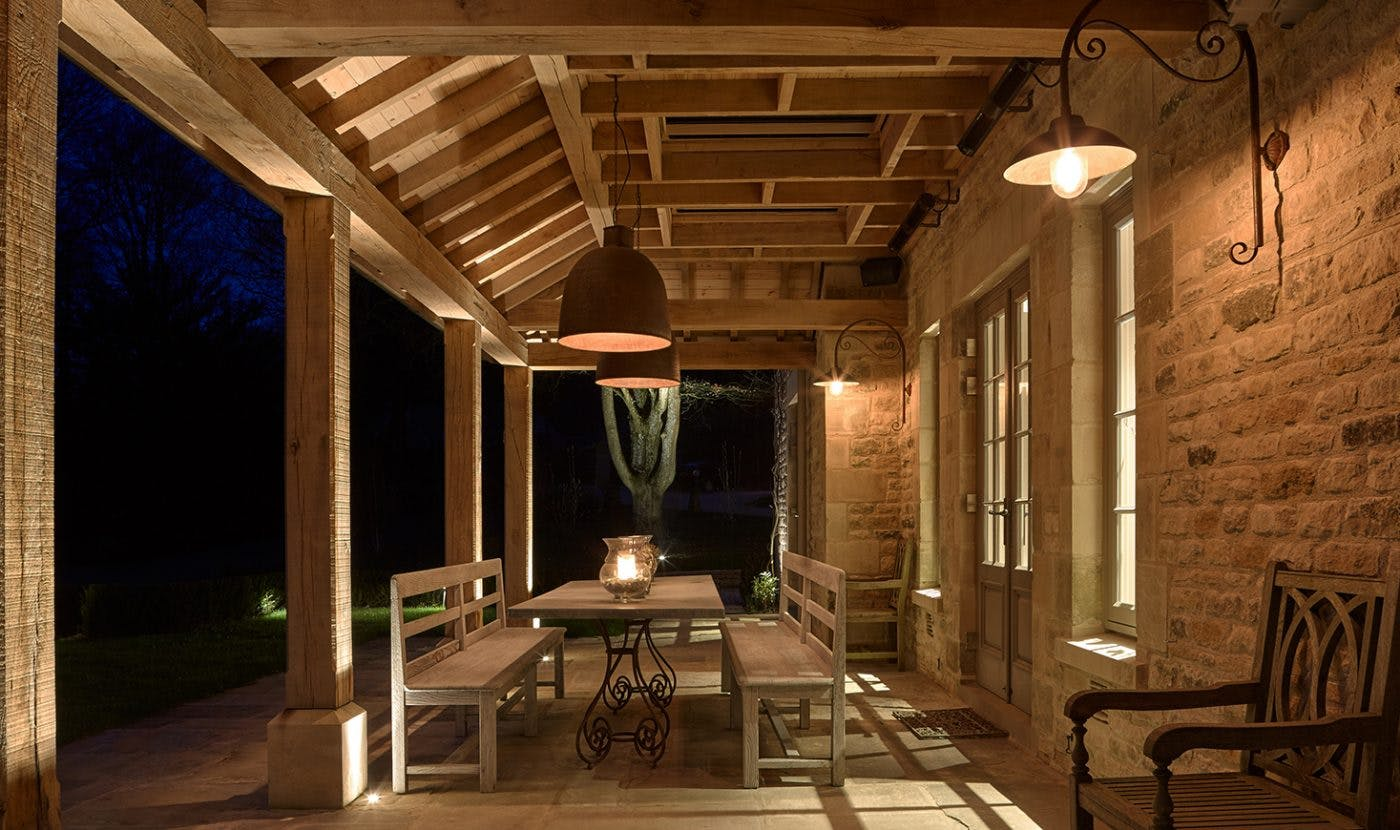 lighting for covered dining area