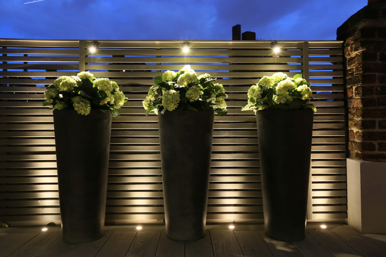 over sized planter lighting