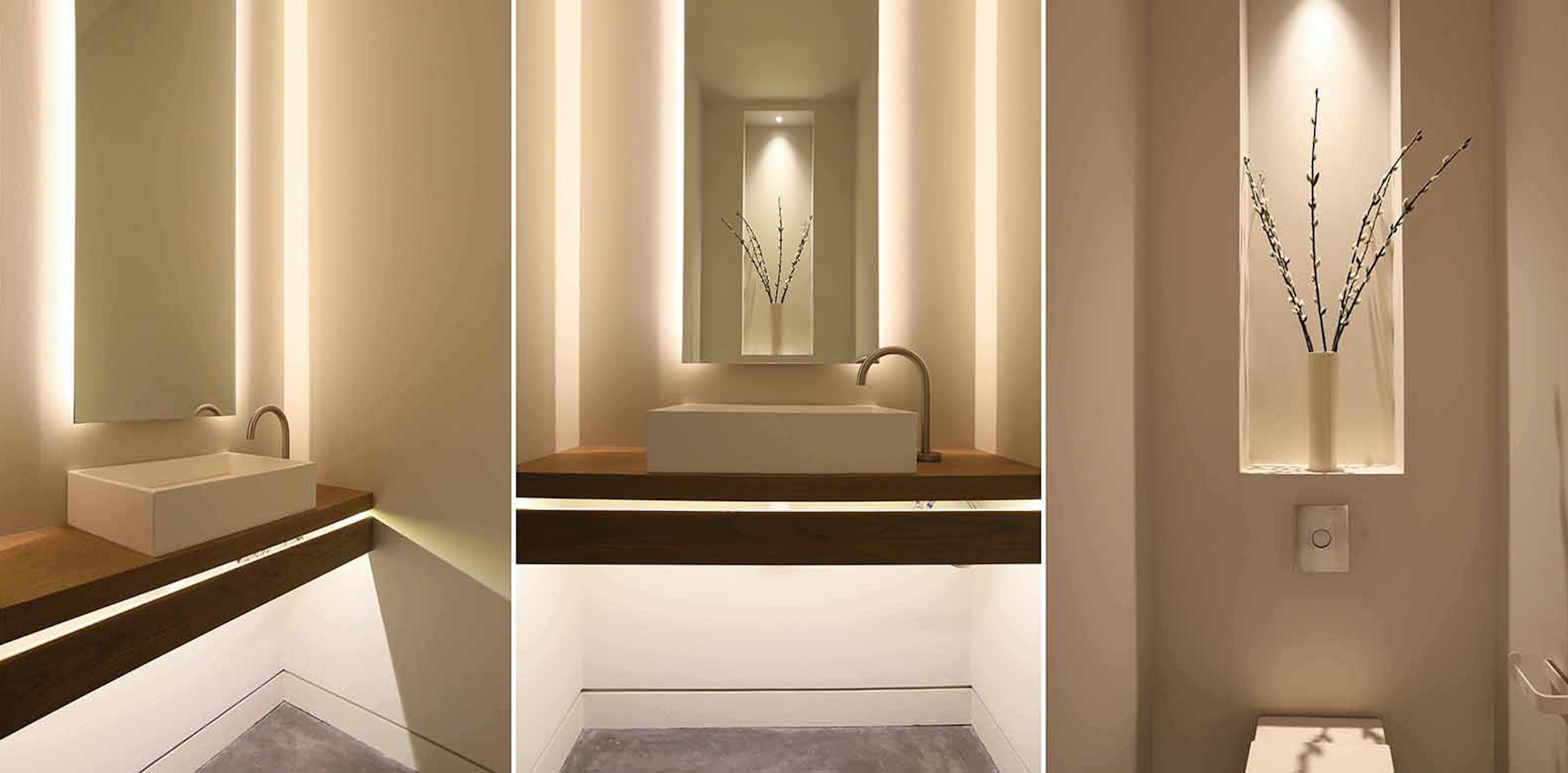 Cloakroom bathroom lighting