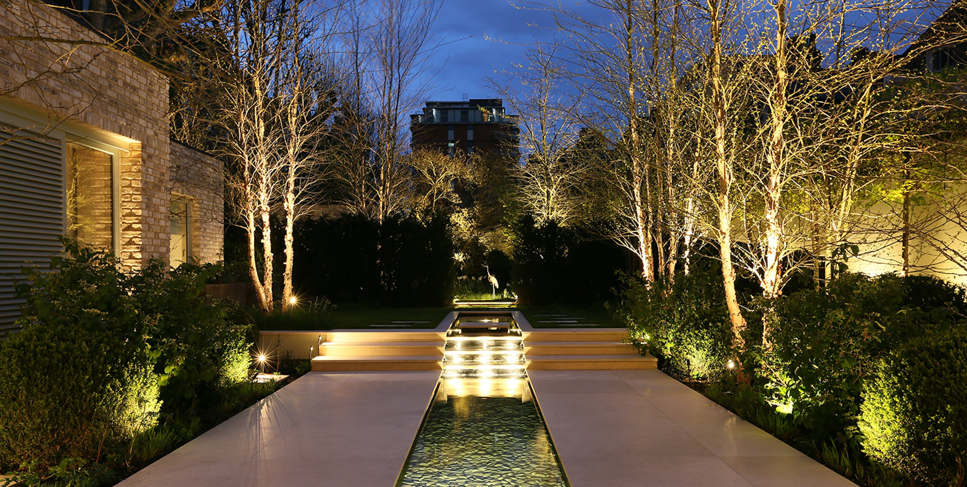 lighting a Garden with a view