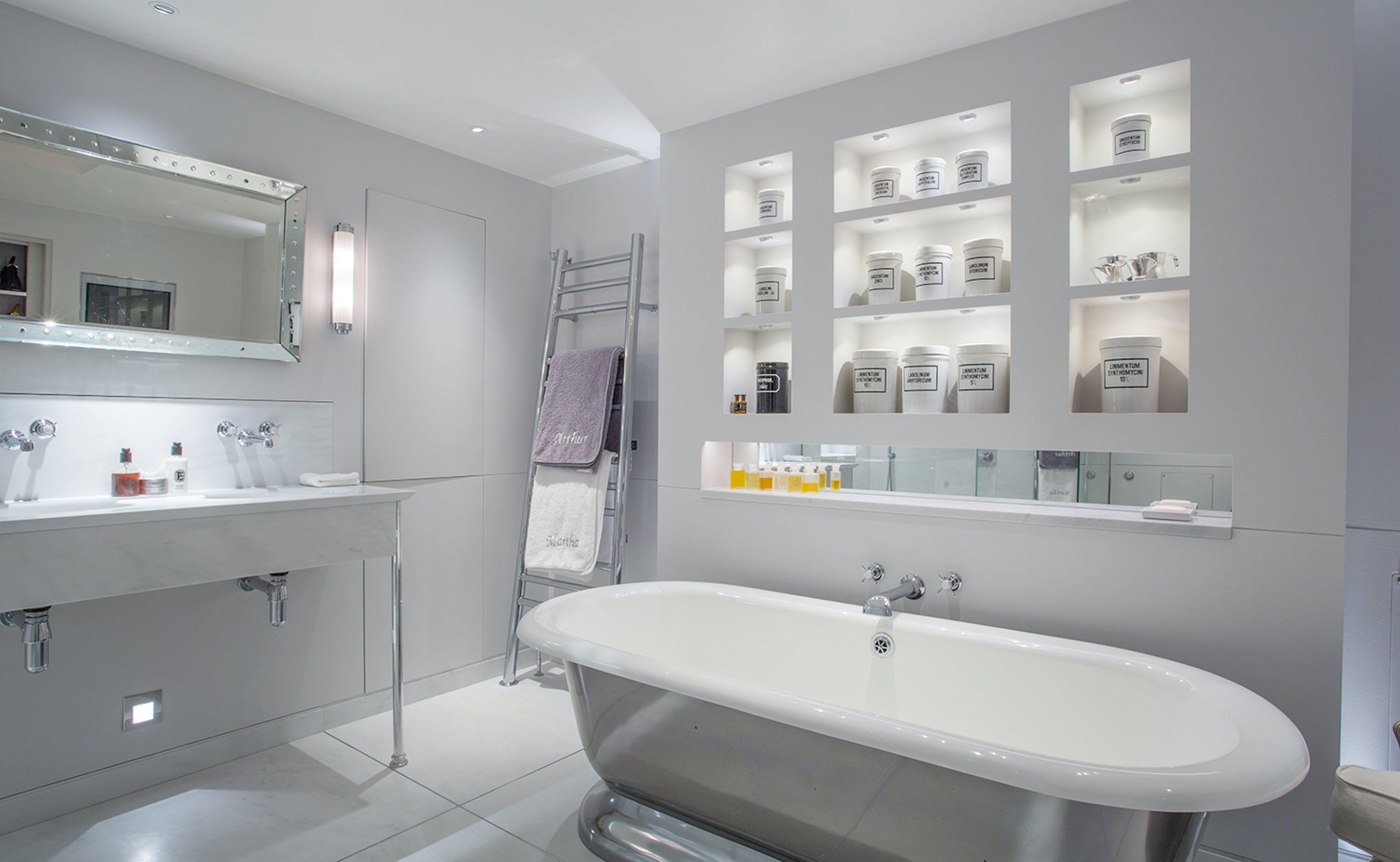 Layered bathroom lighting