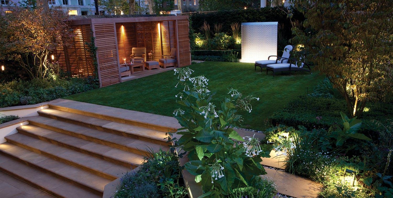 Lighting for entertaining garden