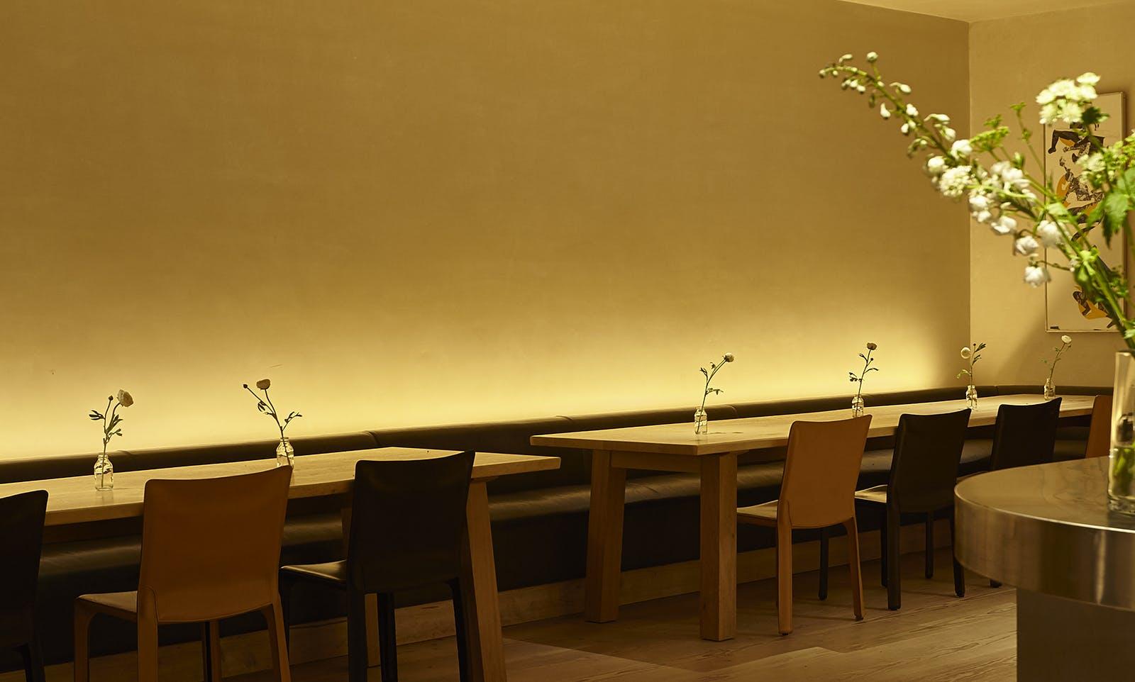 minimalist lighting dining