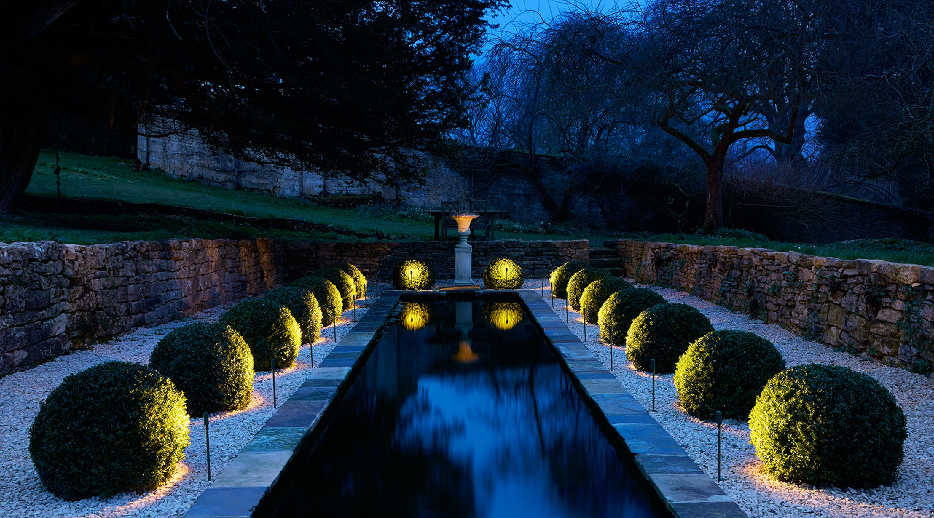 Water feature and box balls