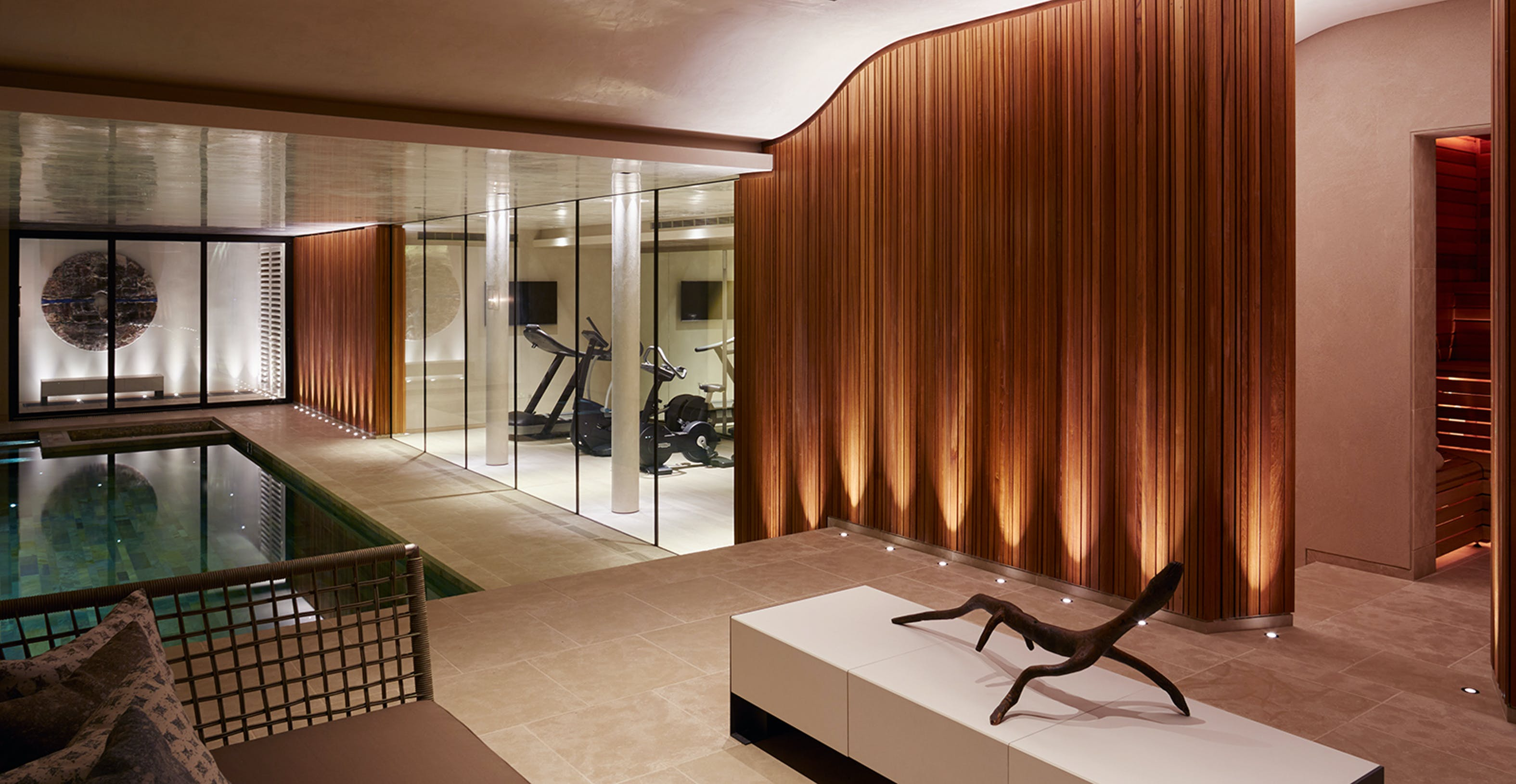 basement sauna and gym