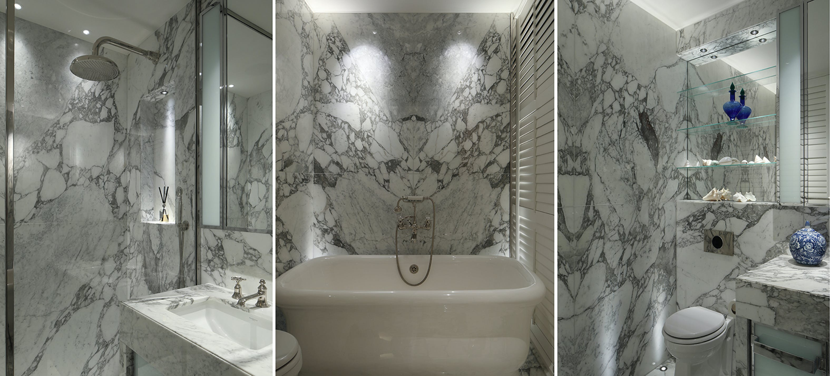 marble bathroom lighting