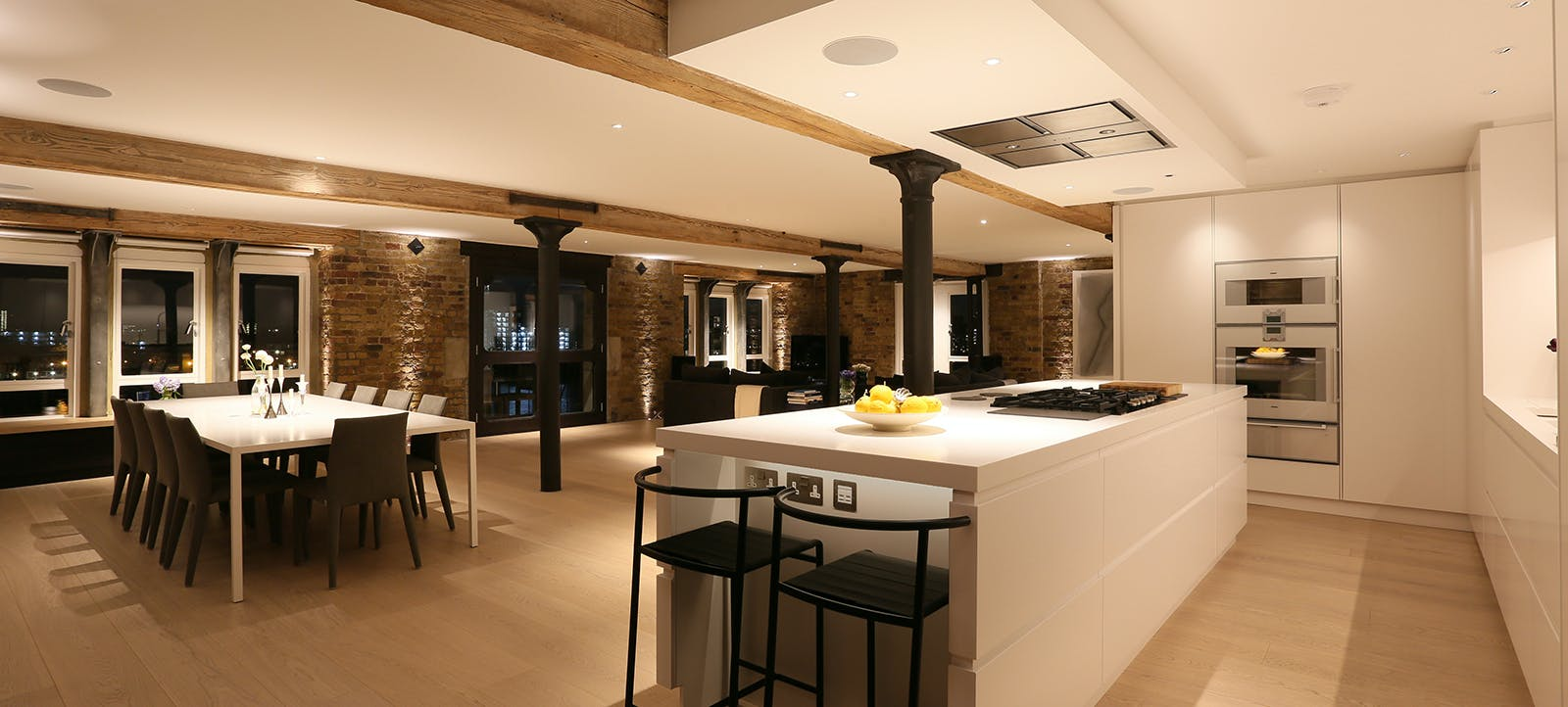 open plan wharf living