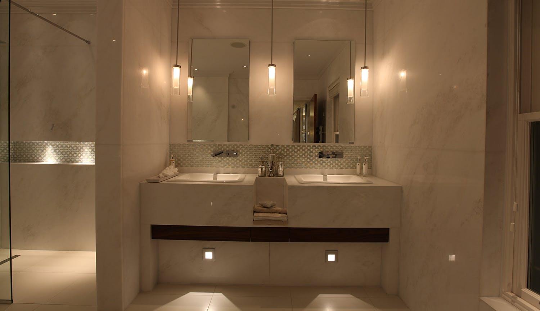 pendant and low level basin lighting design
