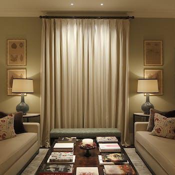 washing light down curtains