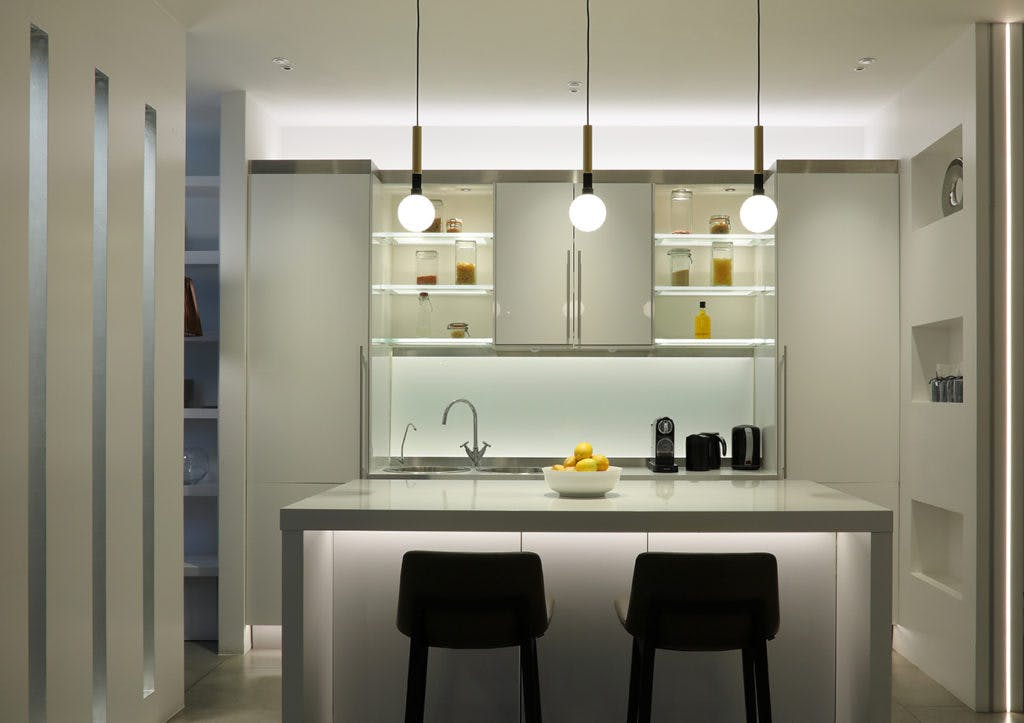 kitchen with lighting