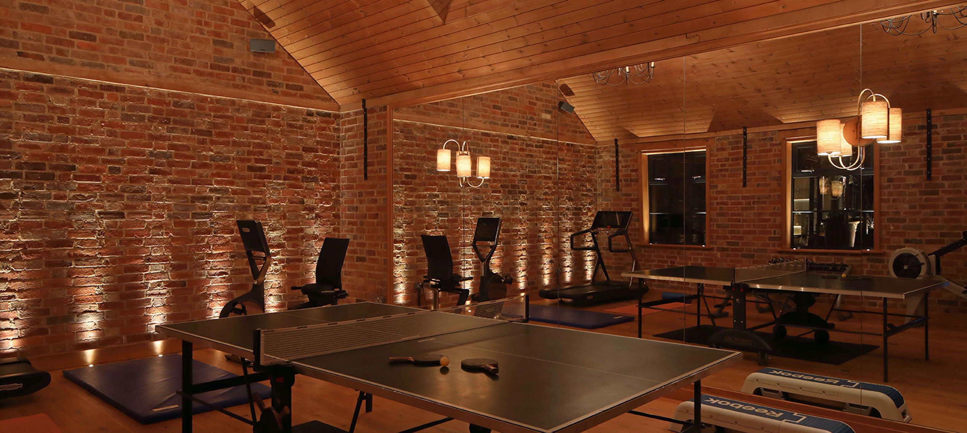 barn gym lighting