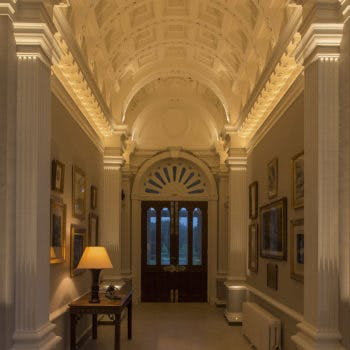 grade listed ceiling in hall lighting
