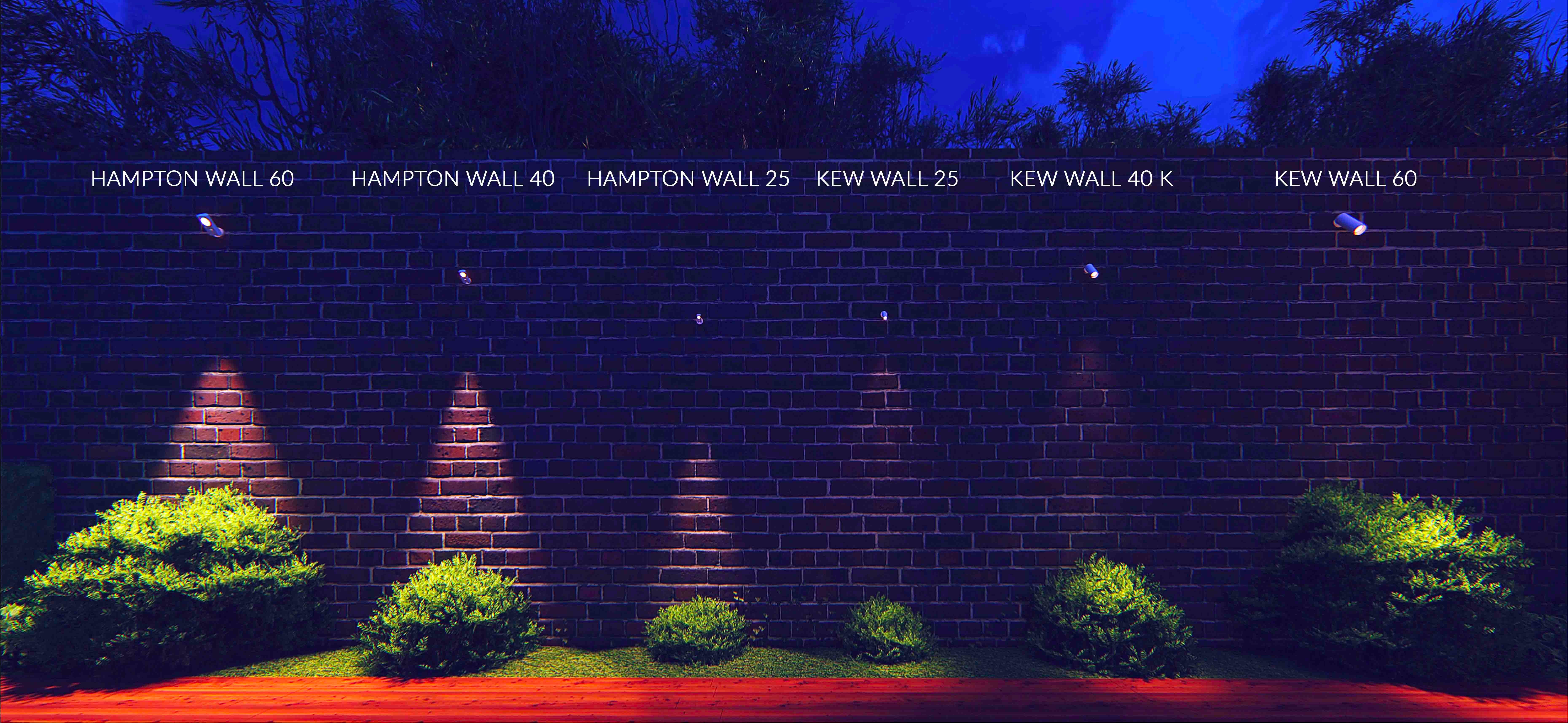Hampton and Kew Wall mounted range showing different sizes in action